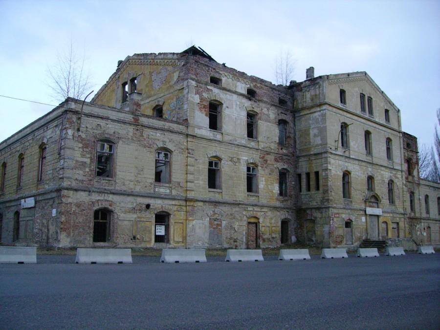 Opuštěná železniční stanice v Duchcově