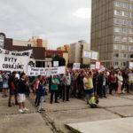 Demonstrace v Písnici, srpen 2016