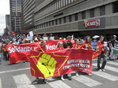 Revoluční Komunistická Mládež (Švédsko) na Festivalu mládeže a studentstva v Pretorii 2010