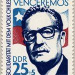 Východoněmecká známka připomínající Allendeho - zdroj Wikipedie