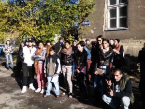 Foto z protestu proti RPG Byty v Ostravě