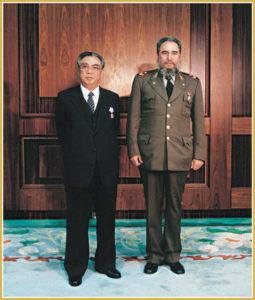 Kim Ir Sen a Fidel Castro