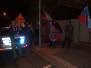 Solidarita s Donbasem před ukrajinskou ambasádou - 7.11.2016