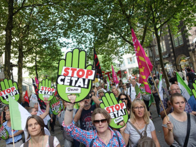 Demonstrace proti CETA a TTIP v Hamburku 17.9.2016