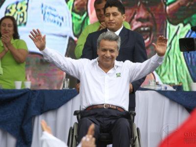 Kandidát strany Alianza Pais - Lenin Moreno