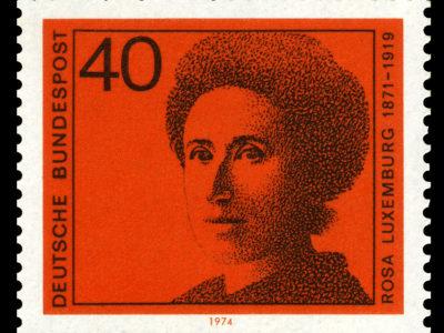Známka s Rosou Luxemburgovou