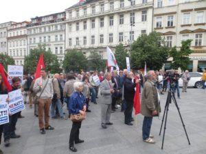 Demonstrace proti NATO, Praha 20. květen 2017