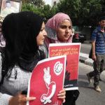 1. Máj - pochod v Gaze na podporu vězňů držících hladovku