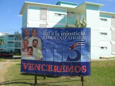 Billboard na podporu Kubánské Pětky