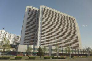 Moderní výstavba v Pchjongjangu