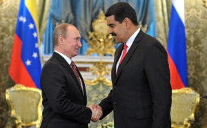 Vladimir Putin a Nicolás Maduro