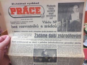 Deník ROH Práce z 23. února 1948 (archiv Fr. Kovandy)