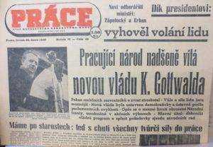Deník ROH Práce z 26. února 1948 (archiv Fr. Kovandy)