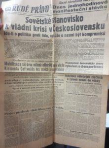 Rudé právo z 24. února 1948 (archiv Fr. Kovandy)